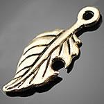 Zinklegierung Feder Anhänger, Federn, antike Bronzefarbe plattiert, frei von Nickel, Blei & Kadmium, 10x23.50mm, Bohrung:ca. 1.5-3mm, 500PCs/Tasche, verkauft von Tasche