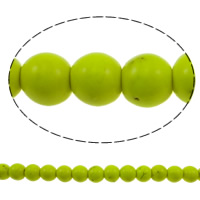 Türkis Perlen, Synthetische Türkis, rund, Spritzlackierung, fluoreszierende, keine, 8mm, Bohrung:ca. 1mm, ca. 54PCs/Strang, verkauft per ca. 15 ZollInch Strang