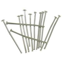 Eisen Kopfstifte, Platinfarbe platiniert, frei von Nickel, Blei & Kadmium, 0.8x25mm, ca. 6250PCs/Tasche, verkauft von Tasche