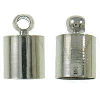 Messing Endkappe, Platinfarbe platiniert, frei von Nickel, Blei & Kadmium, 6x9mm, Bohrung:ca. 1.5mm, 1000PCs/Tasche, verkauft von Tasche
