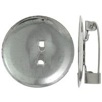 Eisen Broschen Zubehöre, Platinfarbe platiniert, frei von Nickel, Blei & Kadmium, 24x6mm, Bohrung:ca. 1.5mm, 1000PCs/Tasche, verkauft von Tasche