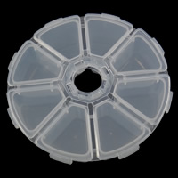 Schmuck Nagelkasten, Kunststoff, Achteck, transluzent, weiß, frei von Nickel, Blei & Kadmium, 105x27x105mm, verkauft von PC