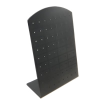 Kunststoff Ohrringständer, PVC Kunststoff, Rechteck, schwarz, 90x130mm, 40PCs/Menge, verkauft von Menge
