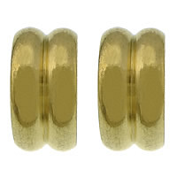 Edelstahl-Perlen mit großem Loch, 304 Edelstahl, Rondell, goldfarben plattiert, großes Loch, 5x10mm, Bohrung:ca. 6mm, 100PCs/Menge, verkauft von Menge