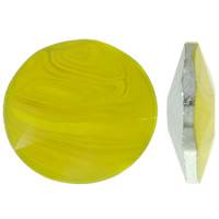 Kristall Eisen auf Nagelkopf, flache Runde, silberfarben plattiert, facettierte & AA grade crystal, Topas, Grad AAA, 30x10mm, 20PCs/Tasche, verkauft von Tasche