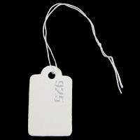 Schmuck Preisschild, Papier, Rechteck, 16x26x0.3mm, 0.2mm, Länge:ca. 4 ZollInch, 500PC/Tasche, verkauft von Tasche