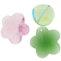 Kristall Zubehör, gemischt, 18x25x7-34x44x15mm, Bohrung:ca. 2mm, 100PCs/Tasche, verkauft von Tasche