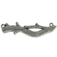 Zinklegierung Schmuckverbinder Stange, Branch, antik silberfarben plattiert, 1/1-Schleife, frei von Nickel, Blei & Kadmium, 47x13x3.50mm, Bohrung:ca. 2mm, ca. 170PCs/kg, verkauft von kg