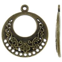 Zinklegierung Schmuckverbinder Einstellung, Kreisring, antike Bronzefarbe plattiert, Multi-Schleifen, frei von Nickel, Blei & Kadmium, 17x20x1mm, Bohrung:ca. 1mm, ca. 905PCs/kg, verkauft von kg