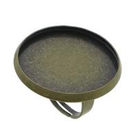 Messing Ringschiene, antike Bronzefarbe plattiert, einstellbar, frei von Blei & Kadmium, 26.50mm, Innendurchmesser:ca. 25mm, Größe:6.5, 100PCs/Menge, verkauft von Menge