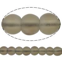 Natürliche Rauchquarz Perlen, rund, satiniert, 14mm, Bohrung:ca. 2mm, Länge:ca. 15.5 ZollInch, 10SträngeStrang/Menge, ca. 28PCs/Strang, verkauft von Menge