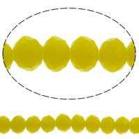 Klasse AA Kristallperlen, Kristall, Rondell, facettierte & AA grade crystal, Zitrin, 4x3mm, Bohrung:ca. 1mm, Länge:ca. 18.8 ZollInch, 10SträngeStrang/Tasche, verkauft von Tasche