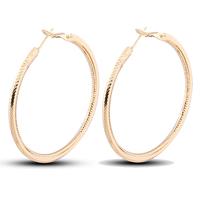 Gets® Schmuck Ohrring, Messing, Kreisring, 18 K vergoldet, frei von Nickel, Blei & Kadmium, 50mm, verkauft von Paar