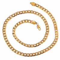 Gets® Schmuck Halskette, Messing, 18 K vergoldet, Kandare Kette, frei von Nickel, Blei & Kadmium, 7mm, verkauft per ca. 24 ZollInch Strang