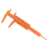 Kunststoff Messschieber, rote Orange, 107x45mm, 10PCs/Menge, verkauft von Menge