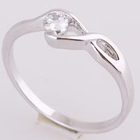 Gets® Finger Ring, Messing, Unendliche, platiniert, mit kubischem Zirkonia, frei von Nickel, Blei & Kadmium, 4mm, Größe:9, verkauft von PC