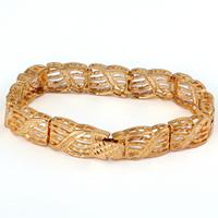 Gets® Schmuck Armband, Messing, 18 K vergoldet, frei von Nickel, Blei & Kadmium, 10.5mm, verkauft per ca. 7 ZollInch Strang