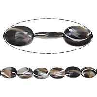 Turbanschnecken Perle, flachoval, 18x13x4mm, Bohrung:ca. 1mm, Länge:ca. 16 ZollInch, 5SträngeStrang/Menge, verkauft von Menge