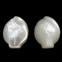 Natürliche weiße Muschelperlen, 12x16x5mm, Bohrung:ca. 1mm, 20PCs/Menge, verkauft von Menge