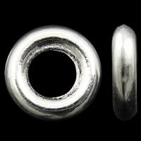 Zinklegierung Verbindungsring, Kreisring, hell silberfarben plattiert, frei von Nickel, Blei & Kadmium, 8x2mm, Bohrung:ca. 4mm, ca. 3330/