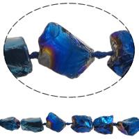 Natürliche Beschichtung Quarz Perlen, Natürlicher Quarz, Klumpen, 20-30mm, Bohrung:ca. 2.5mm, Länge:ca. 15.7 ZollInch, 5SträngeStrang/Menge, ca. 14PCs/Strang, verkauft von Menge
