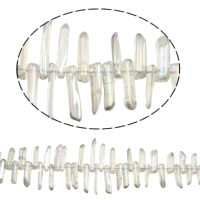 Natürlicher Quarz Perlen Schmuck, 19-38mm, Bohrung:ca. 1mm, Länge:ca. 15.7 ZollInch, 5SträngeStrang/Menge, verkauft von Menge