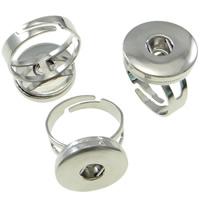 Messing Ring Zubehöre, Platinfarbe platiniert, frei von Nickel, Blei & Kadmium, 20x25x18mm, Größe:11, 5PCs/Tasche, verkauft von Tasche