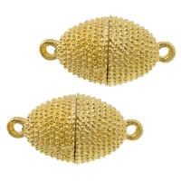 Zinklegierung Magnetverschluss, oval, goldfarben plattiert, Einzelstrang, frei von Nickel, Blei & Kadmium, 23x12mm, Bohrung:ca. 2.2mm, 50PCs/Tasche, verkauft von Tasche