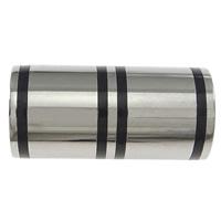 Edelstahl Magnetverschluss, mit Silikon, Zylinder, Weitere Größen für Wahl, originale Farbe, 30PCs/Menge, verkauft von Menge