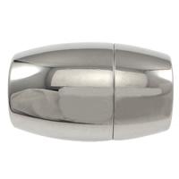 Edelstahl Magnetverschluss, oval, originale Farbe, 18.50x12mm, Bohrung:ca. 8mm, 50PCs/Menge, verkauft von Menge
