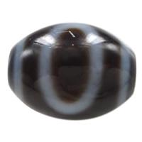 Natürliche Tibetan Achat Dzi Perlen, oval, Himmel und Erde & zweifarbig, 14.50x13x3mm, Bohrung:ca. 2mm, verkauft von PC