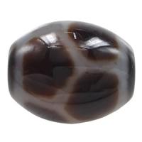 Natürliche Tibetan Achat Dzi Perlen, oval, Langlebigkeit & zweifarbig, 14.50x13mm, Bohrung:ca. 2mm, verkauft von PC