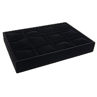 Baumwollsamt Multizweck Schmuckständer, mit Gummi, schwarz, 350x240x45mm, 3PCs/Menge, verkauft von Menge