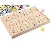 Hanfgarn Halskette Ständer, Karton, mit Leinen, Rechteck, erdgelb, 350x240x30mm, 2PCs/Menge, verkauft von Menge