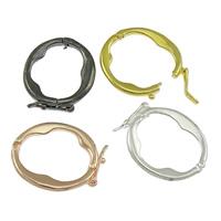 Messing Twister Verschluss, plattiert, keine, frei von Nickel, Blei & Kadmium, 18x22x1.50mm, 100PCs/Menge, verkauft von Menge