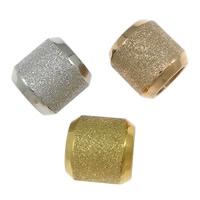 Edelstahl-Perlen mit großem Loch, Edelstahl, Zylinder, plattiert, großes Loch & Falten, keine, 10x10mm, Bohrung:ca. 6mm, 50PCs/Menge, verkauft von Menge