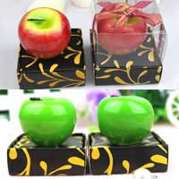 Paraffin Kerzen, mit Baumwolle, Apfel, keine, 40x50mm, 20PCs/Menge, verkauft von Menge
