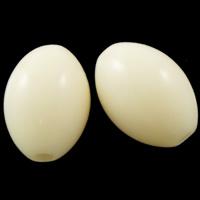Volltonfarbe Acryl Perlen, oval, beige, 13x10mm, Bohrung:ca. 2mm, ca. 710PCs/Tasche, verkauft von Tasche