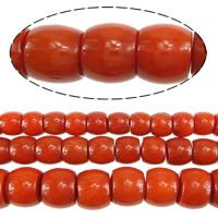 Natürliche Korallen Perlen, Rondell, verschiedene Größen vorhanden, rote Orange, Bohrung:ca. 0.5mm, Länge:ca. 16 ZollInch, verkauft von Menge