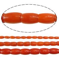 Natürliche Korallen Perlen, oval, verschiedene Größen vorhanden, rote Orange, Bohrung:ca. 0.5mm, Länge:ca. 16 ZollInch, verkauft von Menge