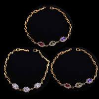Gets® Schmuck Armband, Messing, 18 K vergoldet, mit kubischem Zirkonia, keine, frei von Nickel, Blei & Kadmium, 3-12mm, verkauft per ca. 7.5 ZollInch Strang