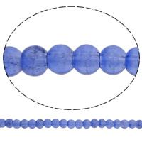 Knistern Glasperlen, Glas, rund, violett, 6mm, Bohrung:ca. 1.5mm, Länge:ca. 31 ZollInch, 10SträngeStrang/Tasche, verkauft von Tasche