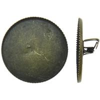 Eisen Broschen Zubehöre, flache Runde, antike Bronzefarbe plattiert, frei von Nickel, Blei & Kadmium, 21x6mm, Innendurchmesser:ca. 20mm, 100PCs/Tasche, verkauft von Tasche