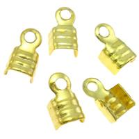 Eisen Endkappe, Rechteck, goldfarben plattiert, frei von Nickel, Blei & Kadmium, 3.50x5.50x2mm, Bohrung:ca. 1mm, 5000PCs/Tasche, verkauft von Tasche
