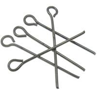 Eisen Kettelstifte, metallschwarz plattiert, frei von Nickel, Blei & Kadmium, 22x1mm, Bohrung:ca. 2mm, 5550PCs/Tasche, verkauft von Tasche