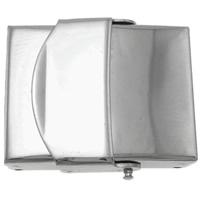 Edelstahl Uhrband Verschluss, Rechteck, originale Farbe, 25x22x7mm, 20PCs/Tasche, verkauft von Tasche