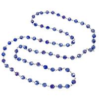 Kristall Pullover Halskette, mit Eisen, rund, AB Farben plattiert, facettierte, mehrere Farben vorhanden, 8mm, verkauft per ca. 35 ZollInch Strang