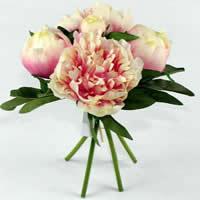 Seidenspinnerei Kunstblume, mit Kunststoff, Baum-Pfingstrose, keine, 24cm, 2SetsSatz/Menge, 5PCs/setzen, verkauft von Menge