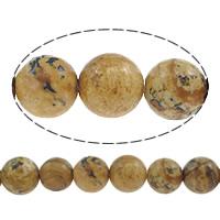Bild Jaspis Perlen, rund, natürlich, 6mm, Bohrung:ca. 0.8mm, Länge:ca. 15 ZollInch, 10SträngeStrang/Menge, ca. 60PCs/Strang, verkauft von Menge