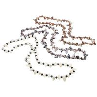 Natürliche kultivierte Süßwasserperlen Pullover Halskette, mit Kristall, Keishi, keine, 8-21mm, verkauft per ca. 33 ZollInch Strang